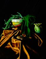 Still Life in Green and Gold