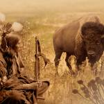 """Native American Sioux and Bison"" by spadecaller"