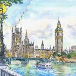 """Houses of Parliament .London"" by sandrafrancis"