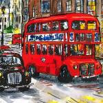 """London Bus and Taxi"" by sandrafrancis"