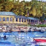 """Loon Lodge on Lake Champlain"" by schulmanart"