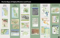 6 Maps of Effective Land Trusts poster
