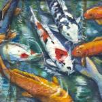 """Koi on Rice Paper_2"" by allinghamcarlson"