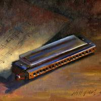 """Harmonica With Sheet Music"" by hallgroat"