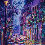 """Royal St and Pirates Alley"" by neworleansartist"