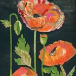 """Poppies On Black"" by waynebrezinka"
