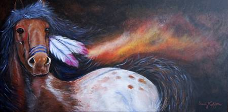 The Native Land - 24 x 48 for sale acrylic paintin
