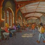 """C Shop, Coffee Shop at University of Chicago"" by LeonSarantosArtist"