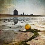 """Buoy on a Low Tide with Textures"" by eduardoventura"
