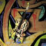 """Contrabass Jazzy Graffiti - 3D Model"" by WallArtDeco"