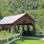 """Covered Bridge on the Mountain Road"" by RobertGosselin"