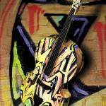 """Contrabass Jazzy Graffiti Portrait - 3D Model"" by WallArtDeco"