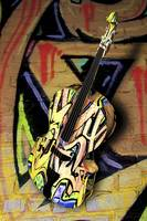 Contrabass Jazzy Graffiti Portrait - 3D Model