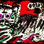 """Art Brut Kitty Cat"" by galleryKatie"