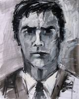 Aaron Hotchner Portrait Criminal Minds by Ginette