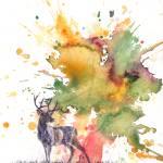 """""""Buck Deer Silhouette"""" by idillard"""