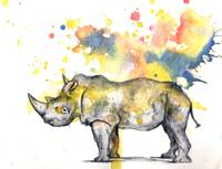 Rhinoceros in Splatter