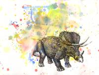 triceratops in splatter