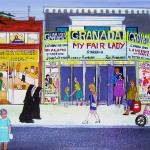 """""""Granada Theatre 1960s"""" by AudCooperArtist"""