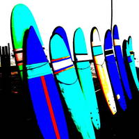 BALI SURFS ! Art Prints & Posters by Funkpix Photo Hunter