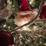 """Christmas Trimming, Santa Claus, Red Balls, Lights"" by Chantal"