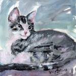 """My Kitten Baby Buster Mixed Media Painting by Gine"" by GinetteCallaway"