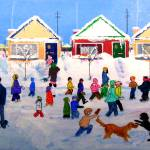 """Going to School in Winter 1960s"" by AudCooperArtist"