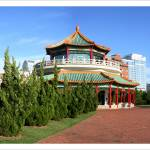 """Norfolk Waterfront Pagoda"" by nancielaing"