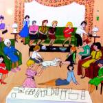 """""""Tupperware Party 1960s"""" by AudCooperArtist"""