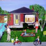 """Life in the ""Burbs 1960s"" by AudCooperArtist"