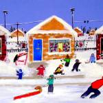 """After A Snowstorm 1950s"" by AudCooperArtist"