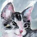 """Kitten Painting My Buster Face Close up by Ginette"" by GinetteCallaway"
