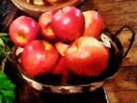 Basket of Apples in Kitchen