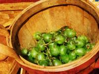 Basket of Green Grapes