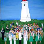 """Lighthouse Wedding"" by AudCooperArtist"