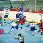"""Leafs 6, Habs 0"" by AudCooperArtist"