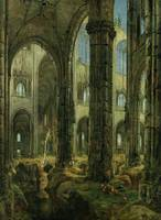 Ruins of a Gothic Church, 1826 (oil on canvas) by