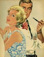 Illustration from magazine, 1959 - Couple posing