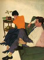 Illustration from magazine, 1959 - Couple arguing