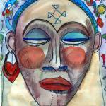 """Abstract African Woman Figurative Portrait"" by schulmanart"