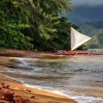 """""""A Sailboat In Hanalei Bay"""" by jameseddy"""