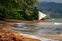 A Sailboat In Hanalei Bay