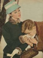 Illustration from magazine, 1958 - Hand kiss