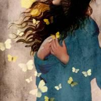 Bye bye butterfly Art Prints & Posters by Catrin Welz-Stein