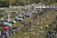 Lineman's Rodeo Action From Above