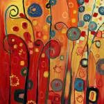 """""""Garden Joy in Red"""" by JENLO"""