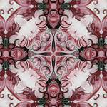 """ornate elegant red kaleidoscope art"" by HeidiVaught"