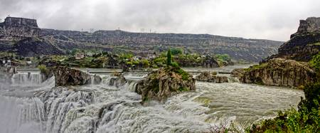 Blustery Day At Shoshone Falls
