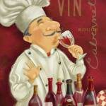 """Wine Chef I-Large1"" by shariwarren"