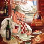 """Busy Chef Beaujolais Large 1"" by shariwarren"